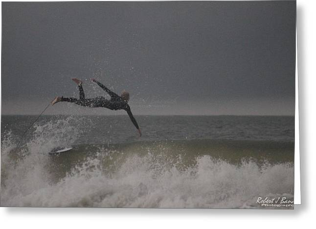 Super Surfing Greeting Card