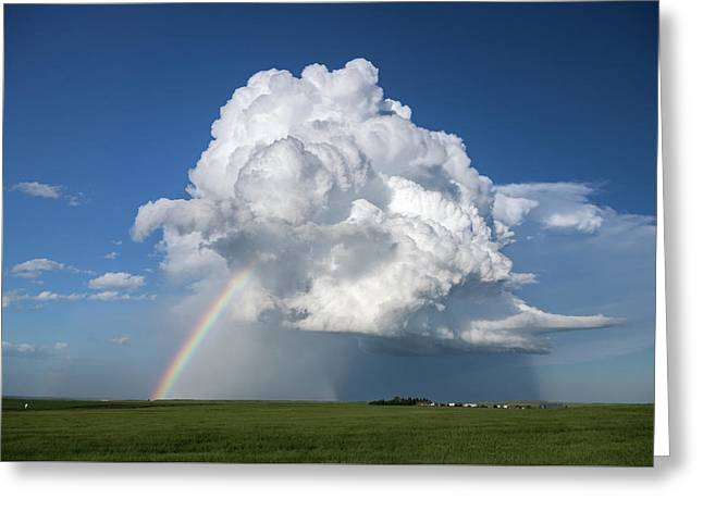 Supercell Rainbow Greeting Card by James Hammett