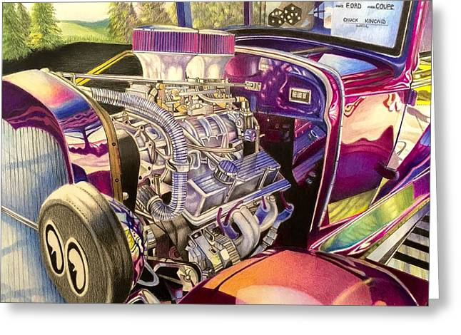 Supercharged Antique 1931 Ford Coupe  Greeting Card
