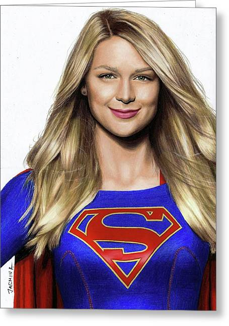 Supergirl Drawing Greeting Card