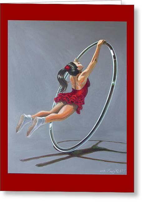 Supergirl On Cyr Wheel  Greeting Card