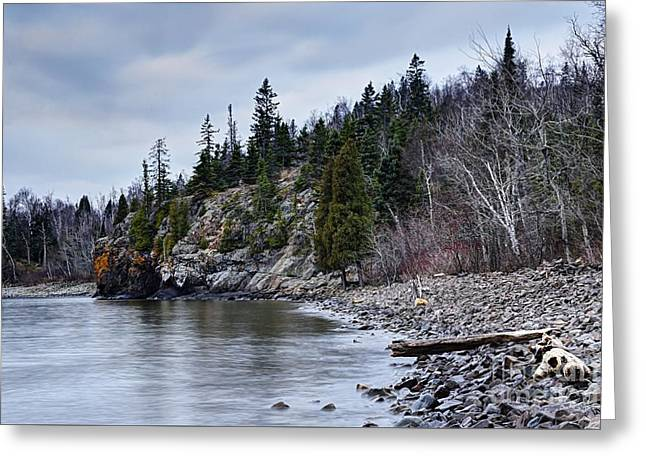 Greeting Card featuring the photograph Superior Cliffs by Larry Ricker