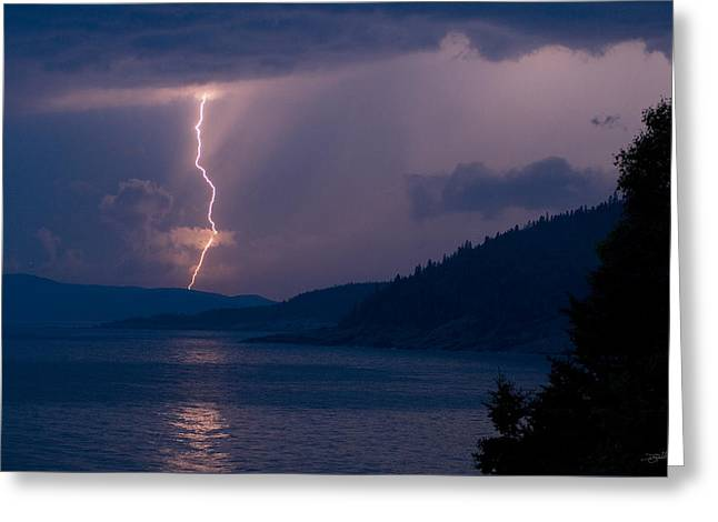 Superior Lightning     Greeting Card