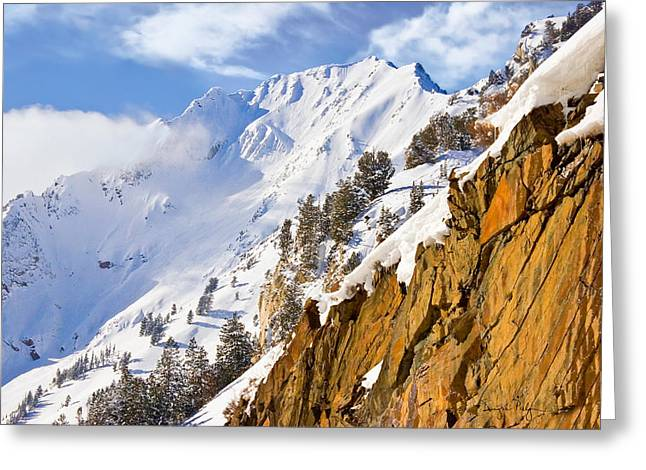 Superior Peak In The Utah Wasatch Mountains  Greeting Card by Douglas Pulsipher