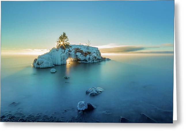 Superior Sunrise // North Shore, Lake Superior  Greeting Card