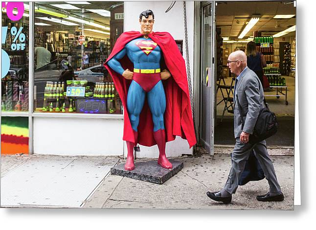 Superman And Lex Luthor Greeting Card by Bautista NY