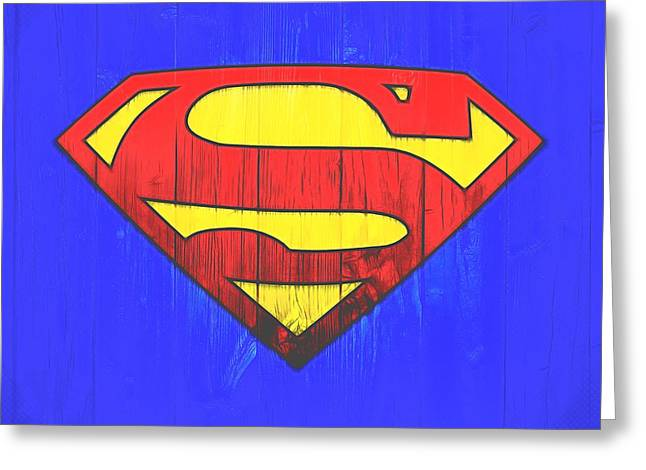 Superman Graphic Door Greeting Card by Dan Sproul