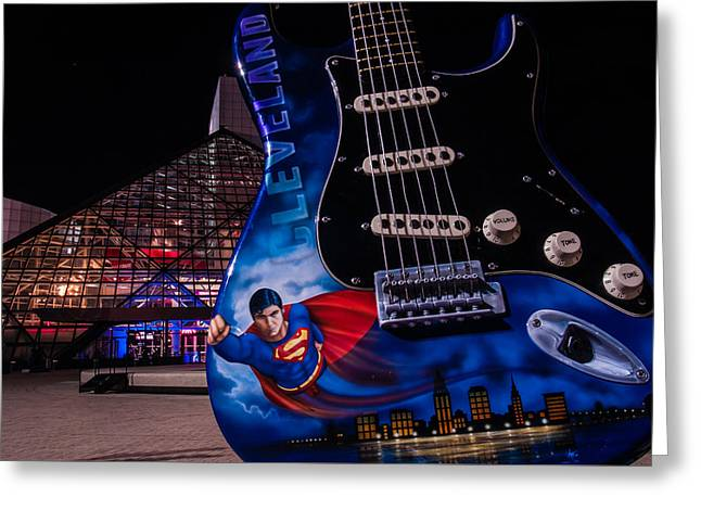 Superman Rocks Greeting Card