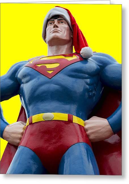 Superman Santa Greeting Card