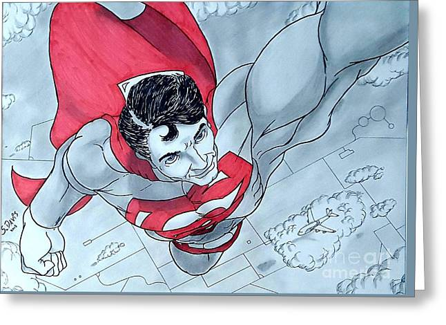 Superman Takes Flight Greeting Card