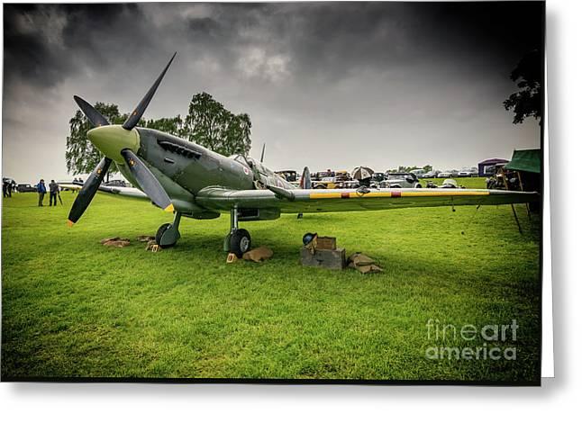 Supermarine Spitfire Greeting Card by Adrian Evans