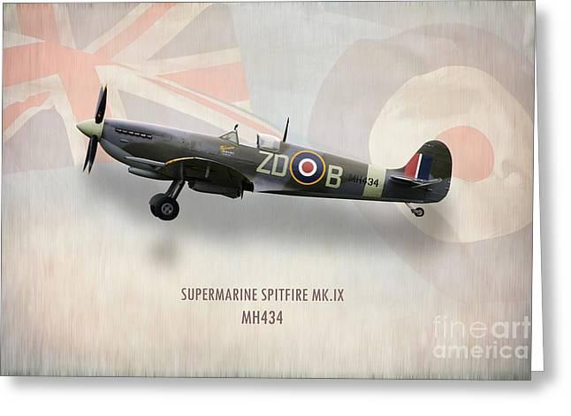 Supermarine Spitfire Mk.ix Mh434 Greeting Card