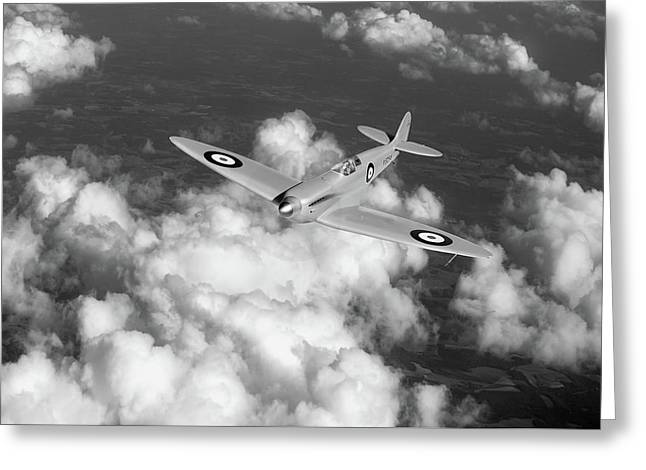 Supermarine Spitfire Prototype K5054 Black And White Version Greeting Card by Gary Eason