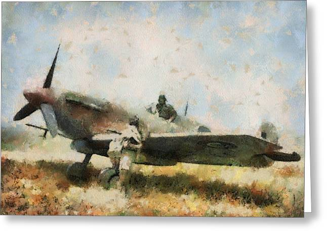 Supermarine Spitfire Tunisia Greeting Card