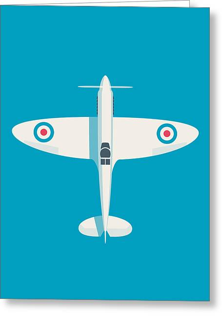 Supermarine Spitfire Wwii Raf Fighter Aircraft Greeting Card