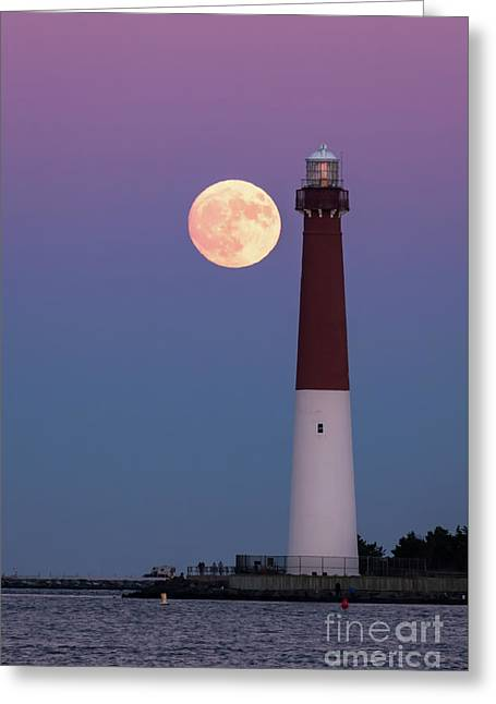 Supermoon And Old Barney Greeting Card
