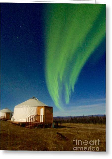 Supermoon Aurora II Greeting Card by Sean Griffin