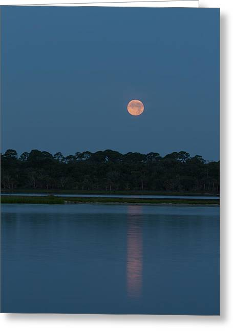 Supermoon Dawn 2013 #2 Greeting Card