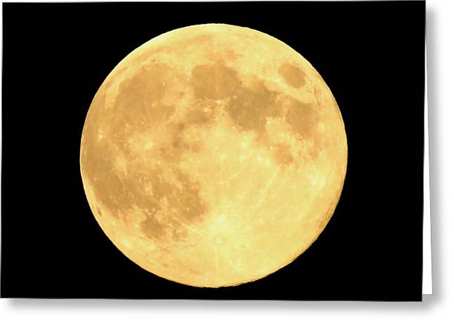 Supermoon Full Moon Greeting Card by Kyle West