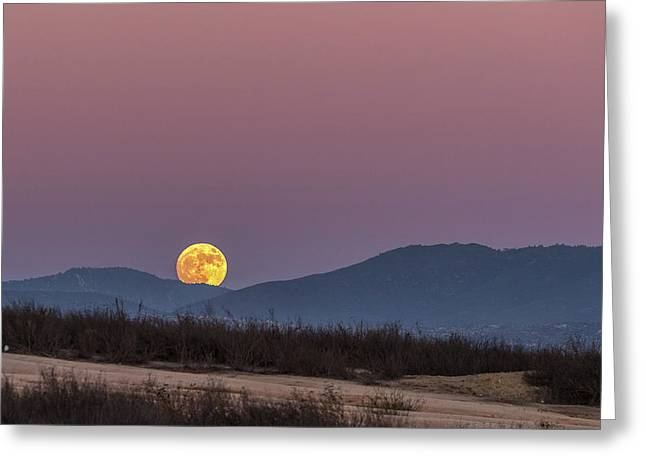 Supermoon November 2016 Greeting Card by Peter Tellone
