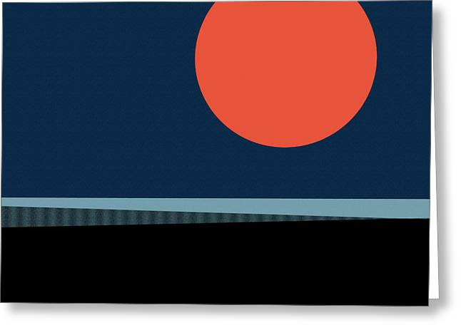 Greeting Card featuring the digital art Supermoon Over The Sea by Klara Acel