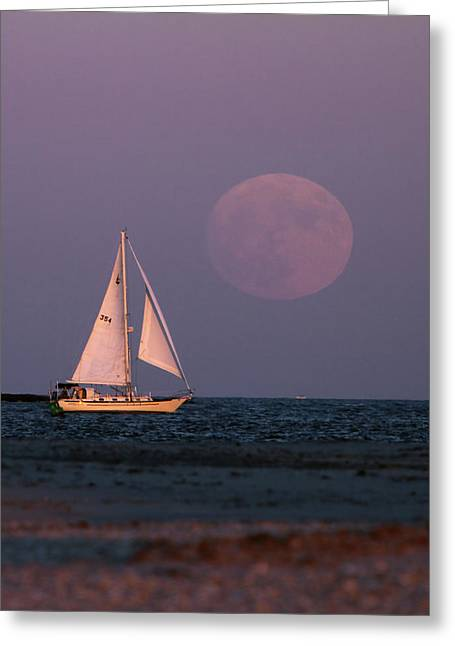Supermoon Two Greeting Card by John Loreaux