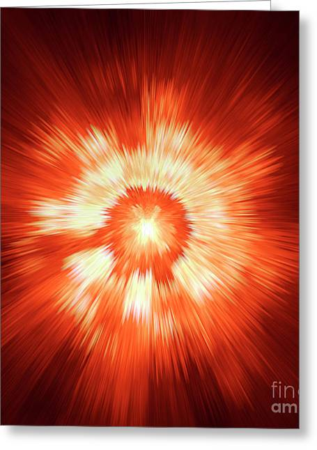 Supernova 2 Greeting Card by Steve K