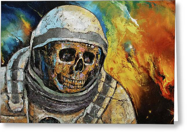 Zombie Supernova Greeting Card by Michael Creese
