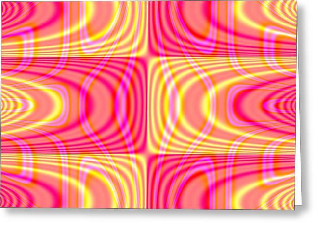 Superposition Of Trigonometric Curves No 004 Greeting Card by Dejan Antanaskovic
