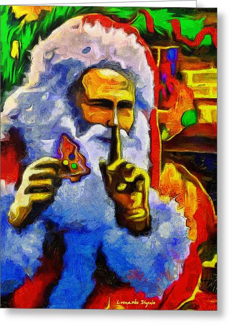 Superputin As Santa Clauss - Pa Greeting Card