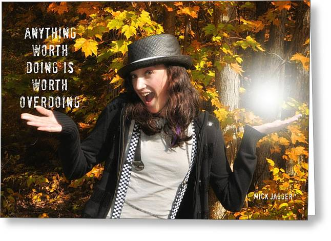 Superstar Quote Greeting Card by JAMART Photography