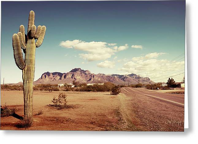 Superstition Greeting Card by Joseph Westrupp