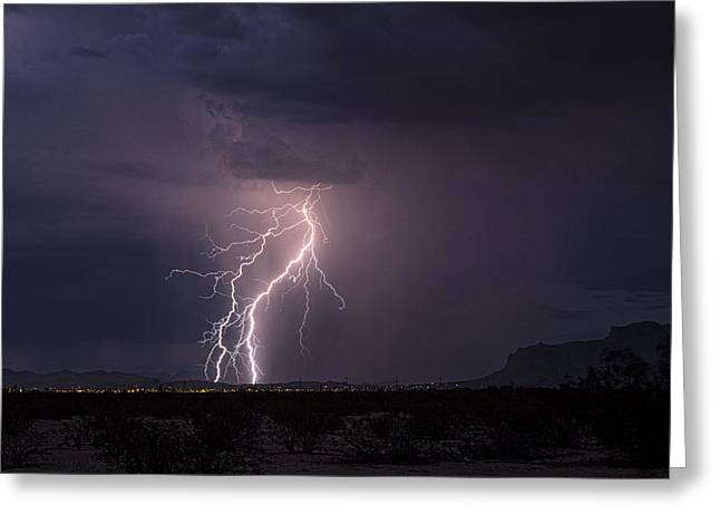 Superstition Lightning  Greeting Card by Saija  Lehtonen