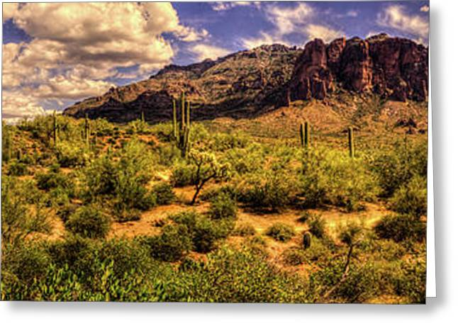 Superstition Mountain And Wilderness Greeting Card