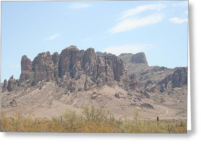 Superstition Mountain Greeting Card by Gregory Jeffries
