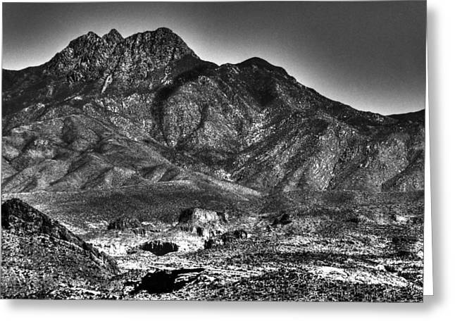 Four Peaks From Lost Dutchman State Park Greeting Card