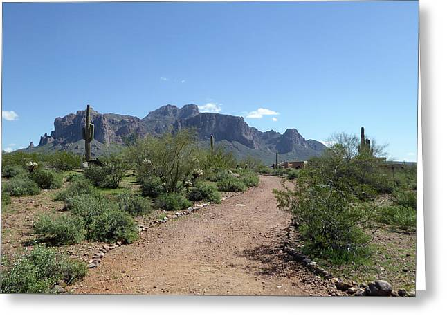 Greeting Card featuring the photograph Superstition Trails by Gordon Beck
