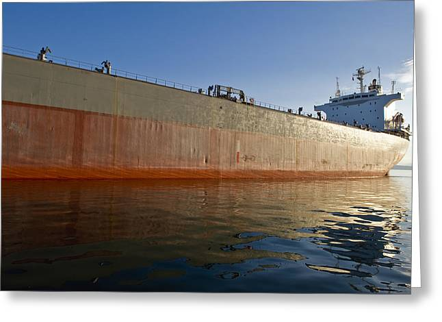 Supertanker Greeting Card by Tom Dowd