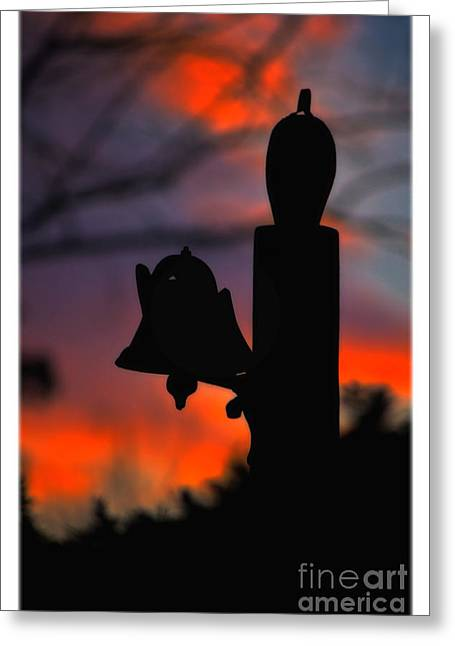 Supper Bell At Sunset Greeting Card