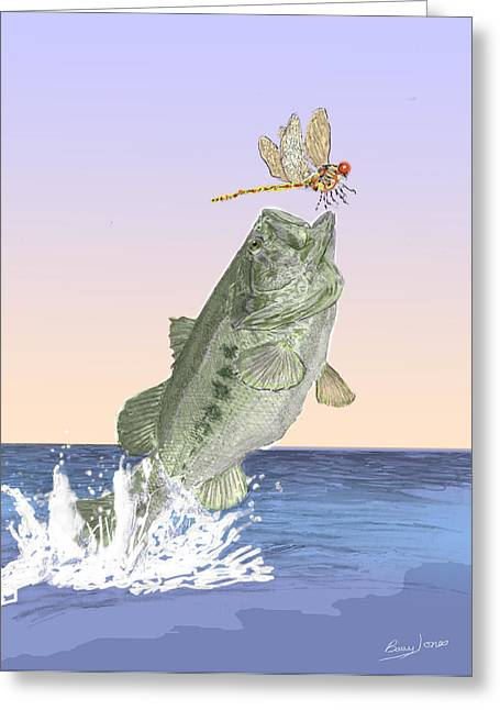 Supper Time Greeting Card by Barry Jones