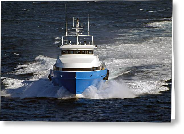 Supply Boat  Greeting Card by Bill Perry
