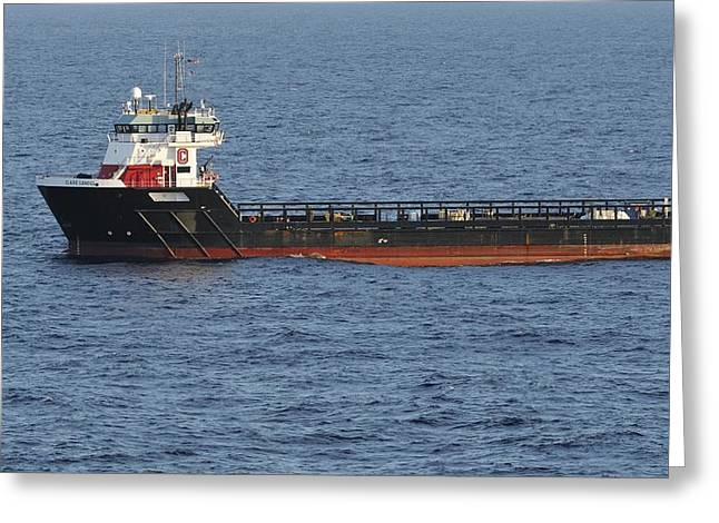 Greeting Card featuring the photograph Supply Vessel Claire Candies by Bradford Martin