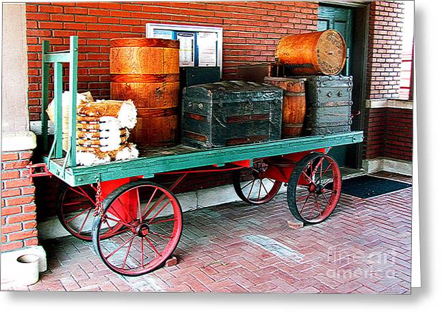 Supply Wagon Greeting Card by Steve C Heckman