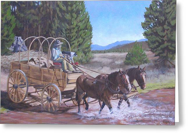 Supply Wagon Greeting Card