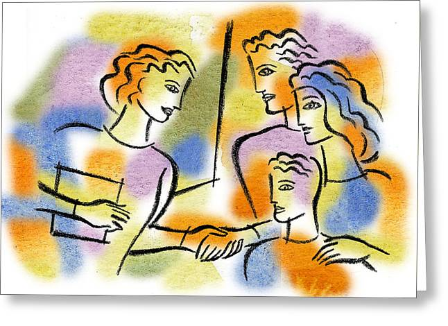 Support And Family Assistance Greeting Card by Leon Zernitsky
