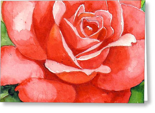 Supreme Beauty Greeting Card by Val Stokes