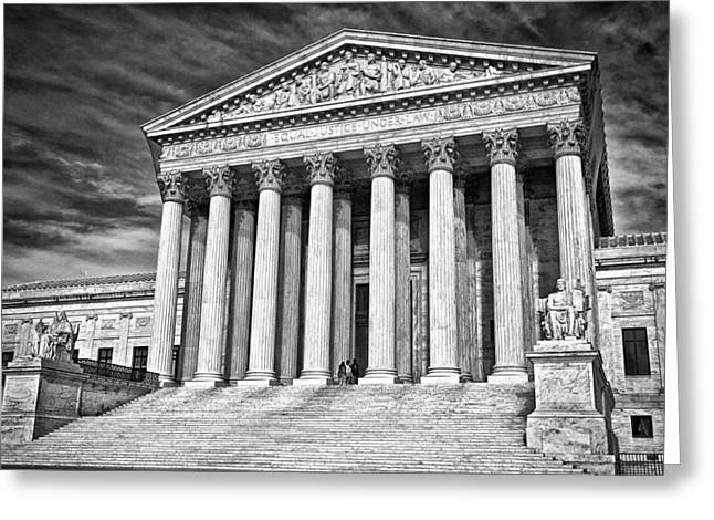 Supreme Court Building 2 Greeting Card by Val Black Russian Tourchin