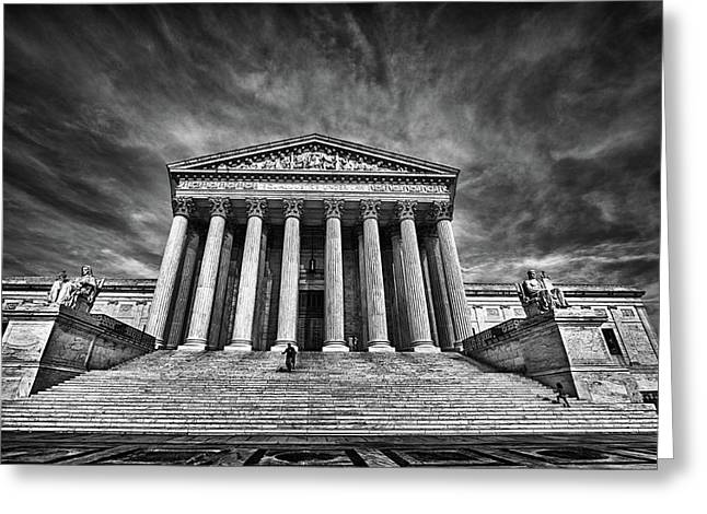 Supreme Court Building In Black And White Greeting Card by Val Black Russian Tourchin