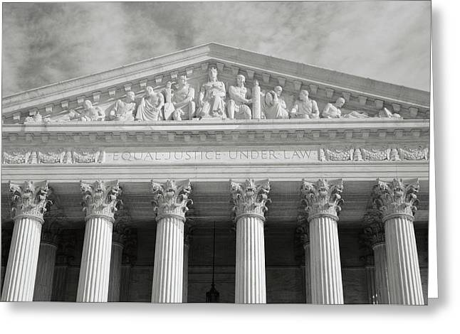 Supreme Court Of The Usa Greeting Card by Brandon Bourdages