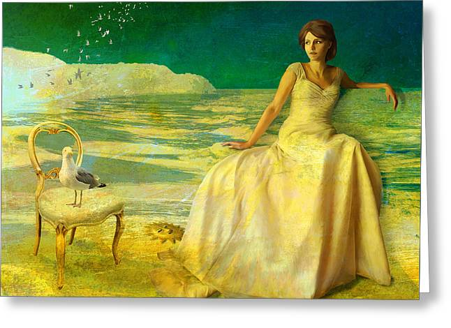 Sur La Mer Greeting Card by Van Renselar